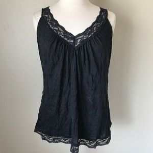 Torrid Black Lace Tank Top Camisole Plus 3X